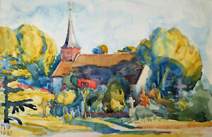 """Kliefert-Gießen, Mathilde(1887Pries/Kiel–1978Stralsund)""""Kirche in Dänischenhagen"""
