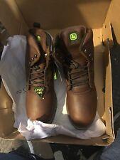 John Deere Work Boots Mens Steel Toe Dark Brown JD8373 SIZE 12-M