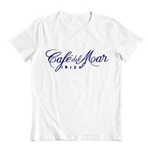 Café Del Mar Ibiza Classic Men's T-shirt  Logo White Tee San Antonio Music Top