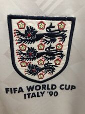 England World Cup 90 Iron On Logo - Navy Blue