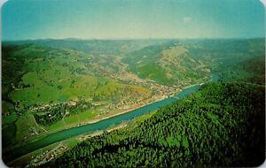 Vintage 1950's Aerial View of Orofino Creek, State Hospital, Idaho ID Postcard