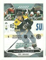19/20 Upper Deck MVP David Pastrnak Boston Bruins Puzzle Back