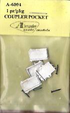 Alexander Scale 6004 HO Coupler Pocket  Pkg(2)  Pin Mount