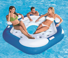 PVC 3-4 Person Fishing Swimming Water Sport Inflatable Boat Rest Floating Island