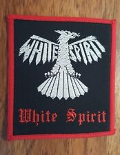VINTAGE 1980's 'WHITE SPIRIT' PATCH - HEAVY METAL BNWOBHM IRON MAIDEN MOTORHEAD