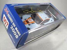 ASTON MARTIN DBR9 GT1 #007 K. Wendlinger signed box GULF LE MANS 2008 SPARK 1:43