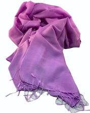 Womans Nepalese Pashmina Scarf - Lilac