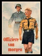 WW2 - Photo Affiche de recrutement allemande - Offiziere von Morgen