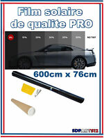 Film Solaire Noir Qualité Vitres  Pro 6m X 76cm Teinté 1% Vlt Auto Ultra Limo