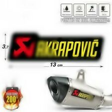 Adesivo Stickers AKRAPOVIC 200 Gradi Honda Suzuki Bmw Ktm Aprilia YAMAHA T-MAX