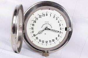 Watch Maritime Clock the 1954 s Soviet Vintage Ship 24 hour Submarine USSR