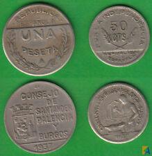 GUERRA CIVIL. SANTANDER, PALENCIA BURGOS. 1 PESETA Y 50 CENTIMOS 1937. (6)