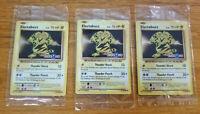 RARE! 3 SEALED Pokemon ELECTABUZZ PROMO Cards Toys R Us EXCLUSIVE LOT 41/108