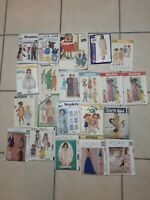 vintage sewing  patterns, lot of 21, McCalls, Butterick, Simplicity, etc