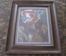 "Black Woman wearing USA American Flag Stars Stripes Head Scarf art print 15x19"""
