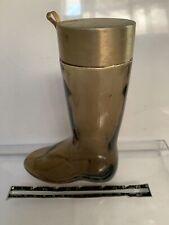 Vtg 1970s Avon Amber Glass Parfum Bottle Shape Of Boot 6.5� T