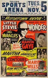 "Stevie Wonder 13"" X 19"" Reproduction Concert Poster archival quality 001"