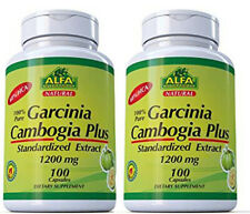 2 Garcinia Cambogia Extract HCA Helps Reduce Appetite Weight Loss - 200 Capsules