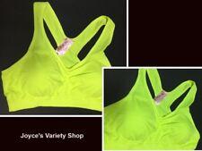 Women's Sport Support Bra Hot Yellow SZ Medium Light Padding