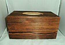 """Wooden Tissue Box Holder Cover Rectangular Wipes Dispenser 10 3/8""""x5 1/2""""x5 1/4"""""""