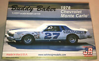 Buddy Baker 1978 Chevy Monte Carlo Stock Car 1:25 model racecar kit new #27