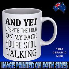 Still Talking Coffee Mug Cup Funny Novelty Gift Idea Work Office Birthday Xmas