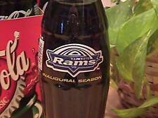 St. Louis Rams Inaugural Season coke bottle
