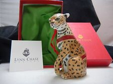 Lynn Chase Jaguar 2001 Annual Porcelain Ornament First in Series Brand New N Box