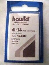 HAWID 41/24MM STAMP MOUNTS 50 PIECES BLACK - COMMS HORZ
