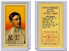 Christy Mathewson, NY Giants HOFer Monarch Corona T206 Centennial reprint #6