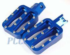 CNC RACING FOOTPEGS FOOT PEGS PIT BIKE XR50 CRF50 BLUE H FP10B