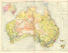 1928 mappa ~ Australia sviluppo commerciale funzionamento minerale Steamship linee