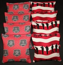 Firefighter Fire Rescue 8 Aca Regulation Cornhole Bean Bags Quality Handmade!