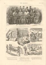 1887 ANTIQUE PRINT- THE BURMESE DISPATCHES, LADY DUFFERINS FUND, FEMALE DOCTORS