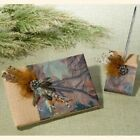 Camouflage Burlap And Feathers Wedding Guest Book And Pen Set, Brown