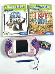 LEAP FROG LEAPSTER 2 CONSOLE works great PLUS 3 LEARNING GAMES Star Wars & I Spy