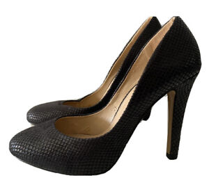LAVISH Black High Heels Shoes Size 40
