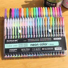 Rollerball Book Neon Gel Ink Pens Set Drawing Painting Coloring Art Markers
