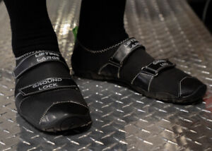 Black Ground Lock Deadlift Slippers, Conventional or Sumo - Competition Legal