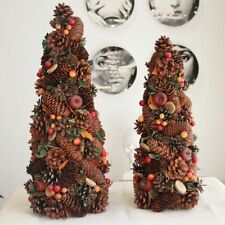 Nature Pine Cones Apple Berries Artificial Tree Christmas Tree Rustic Decor Home