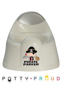 Personalised Pirate Design Training Potty Kids Unique Bespoke Toddler Boy Toilet