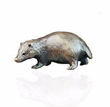 Country Animal Bronze Miniature Sculpture - Badger - Butler & Peach.