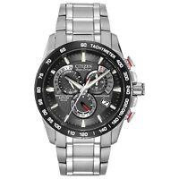 Citizen Eco-Drive Men's A-T Chronograph Black Dial 42mm Watch AT4008-51E