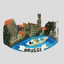 Belgium Bruges Shaped Fridge Magnet Refrigerator Sticker Home Decor Collection