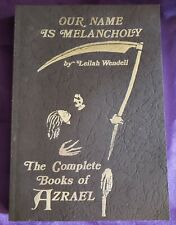 Our Name Is Melancholy by Leilah Wendell 1999 Inscribed Nm w/ Other Material