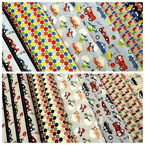 """Zoom Cars Planes & Helicopters,100% Premium Quilting Cotton 44"""" Kids Bed Ranges"""