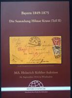 Auction catalogue BAYERN 1849-75 Hilmar Kraus Germany Bavaria Specialised