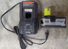 NEW Ryobi 4.0aH battery and Charger Model# P108 and P118
