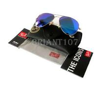 New Sunglasses Ray-Ban RB3025 Gold/Blue Mirror 112/17  62mm + Gift bag