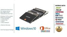 "New 120GB SSD 2.5"" Solid State Laptop Hard Drive Preloaded Windows 10 + Office"